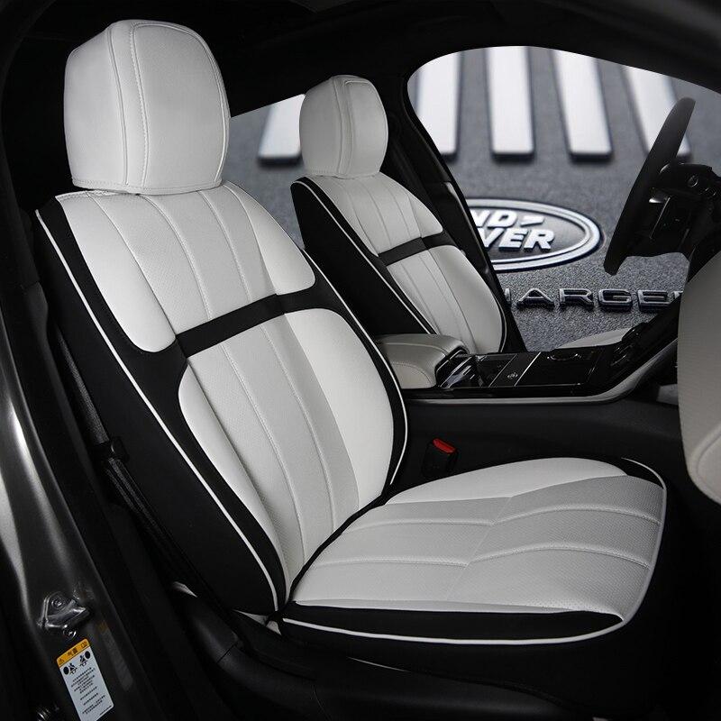 Luxury Pu Leather Microfiber Leather White Custom Car Seat Cover
