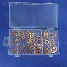 110 шт sae плоское уплотнительное кольцо медный набор в ассортименте