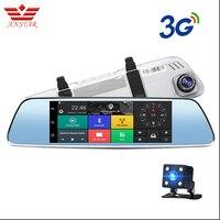 ANSTAR 7 inch 3G Car Dvr Camera GPS Navigator Android Rearview Mirror Full HD 1080P Video Recorder Bluetooth Dual Lens Dashcam