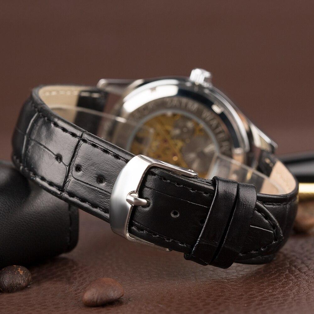 YISUYA Steampunk Esqueleto Reloj de pulsera Hombres Mano devanado - Relojes para hombres - foto 4