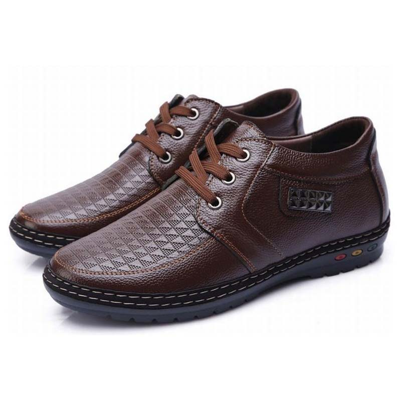 2018 spring men height increasing 5 cm elevator casual shoes male lace up hidden heel leather leisure single shoes man flats