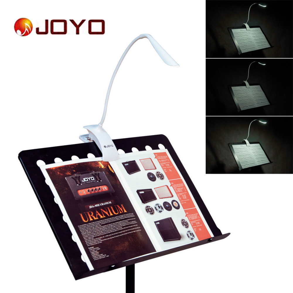 JOYO JL-01 Adjustable Clip On LED Music Stand Light Music Holder Lamp 3 Levels of Brightness Rechargeable with USB Cable music clip staff page clip with music pattern