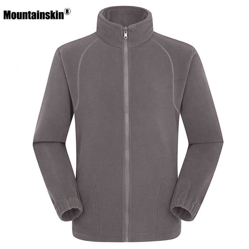 Mountainskin Men's Women's Winter Fleece Softshell Jackets Outdoor Sport Thermal Hiking Camping Climbing Female Male Coats VA203