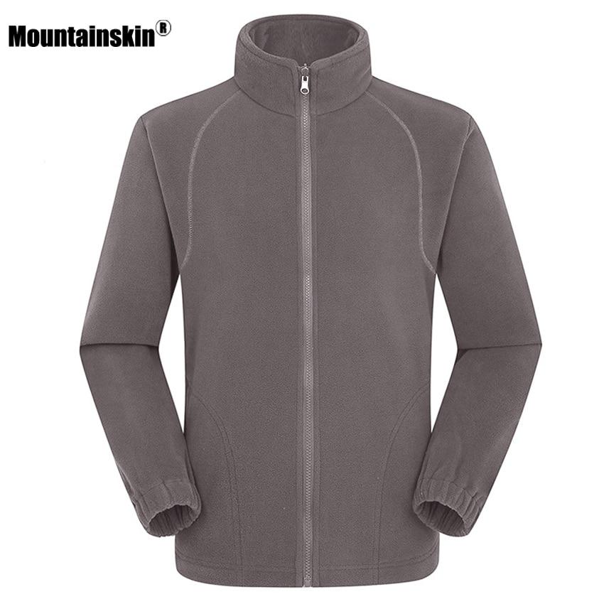 Mountainskin Men's Women's Winter Fleece Softshell Jackets Outdoor Sport Thermal Hiking Camping Climbing Female Male Coats VA203