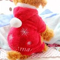 1 cái Nhỏ Pet Puppy Dog Hoodie Coat Santa Claus Áo Khoác Giáng Sinh Quần Áo