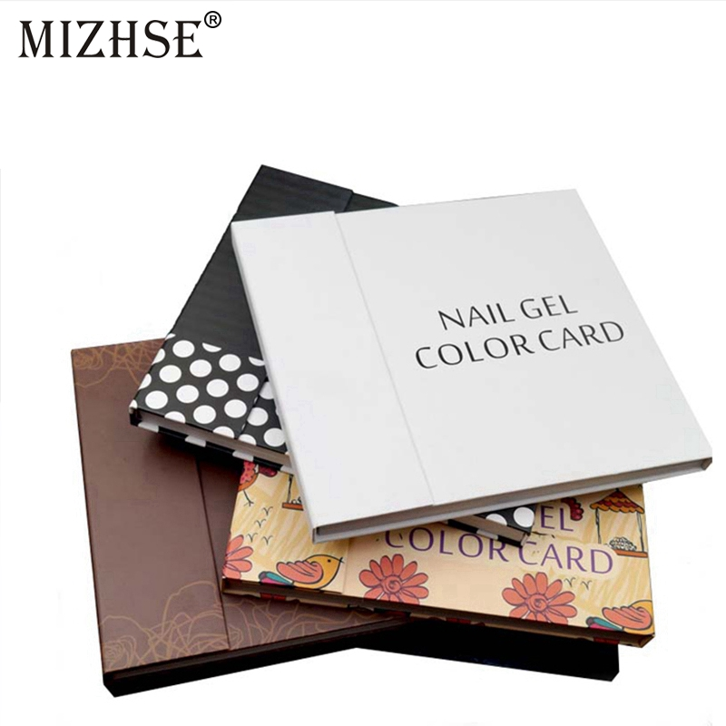 MIZHSE UV Nail Gel Polish 120 Colors Nail Art Display Color Book Chart Salon Acrylic Gel Tips Display Color Card Chart Painting image