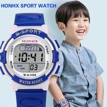 b8e72ad864cd Impermeable niños deporte reloj Digital de cuarzo LED de alarma fecha reloj  de muñeca deportivo reloj infantil reloj niño Venta .