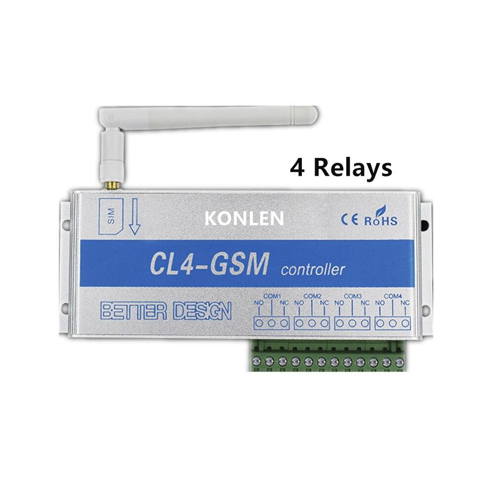 Image 2 - 4 リレーの GSM コントローラ Sms コールリモートコントロールスイッチ ON OFF  ガレージドアゲートオープナーライトカーテンモーターポンプホームオートメーション    グループ上の  セキュリティ