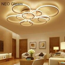 NEO gleam новый современный LED Потолочные светильники для Гостиная Спальня белый Цвет дома circel Кольца светодиодный потолочный светильник Lampara TECHO
