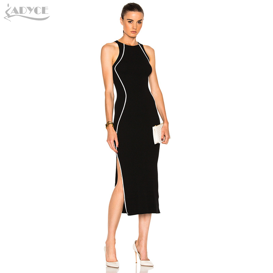 adyce 2017 summer bandage dress black apricot