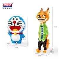 Balody Большие размеры строительные блоки «зверополис» fox Модель Строительный кирпич Марио игрушки куклы аниме Juguetes подарки для магазин игруш