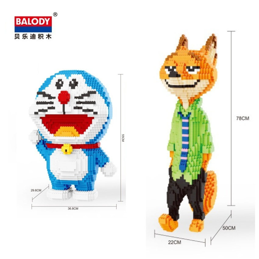 Balody Big size building blocks zootopia fox Model Building Bricks Mario Doll Toys Anime Juguetes Gifts for TOY Shop Display balody mini blocks big size mario diy building toys large one piece bricks cute auction juguetes for kids toys 16001 16009
