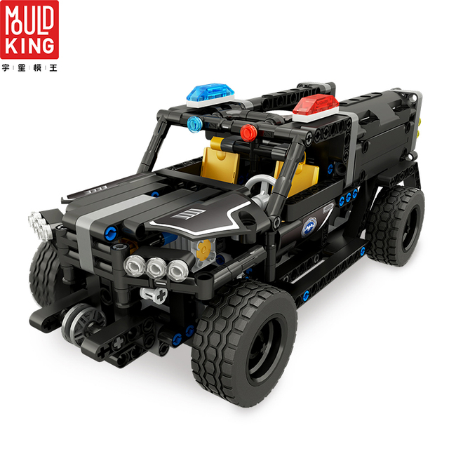 Mould king city swat team police rc car remote control truck building blocks city technic car lepin™ land
