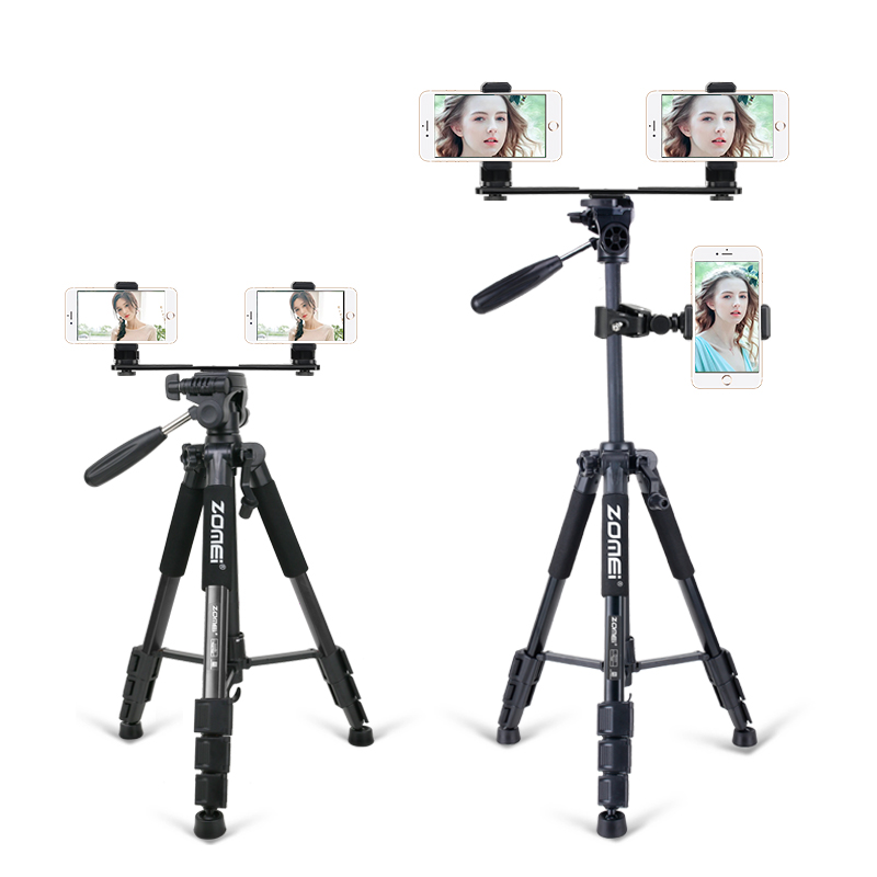 ZOMEI Functional Portable Stable Live Tripods Camera Stand Instafamous Tripode For Smartphone Internet Celebrity Blogebrity