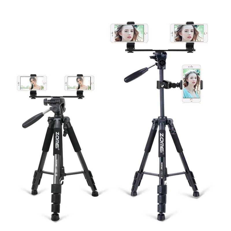 ZOMEI fonctionnel Portable Stable trépieds en direct caméra support Instafamous Tripode pour Smartphone Internet célébrité Blogebrity