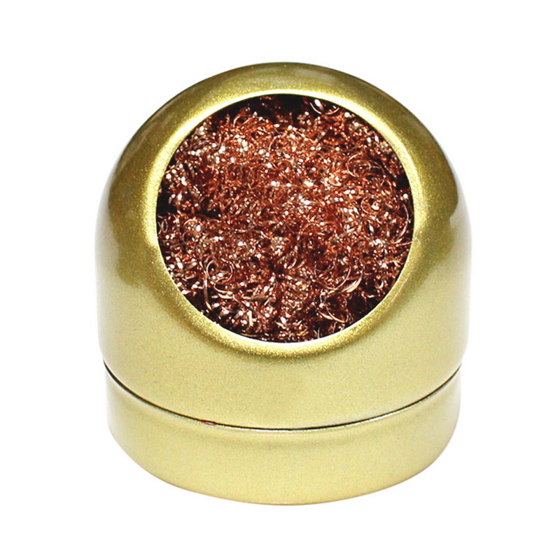 Soldering Solder Iron Tip Cleaner Nozzle Copper Wire Ball Sponge Holder Set