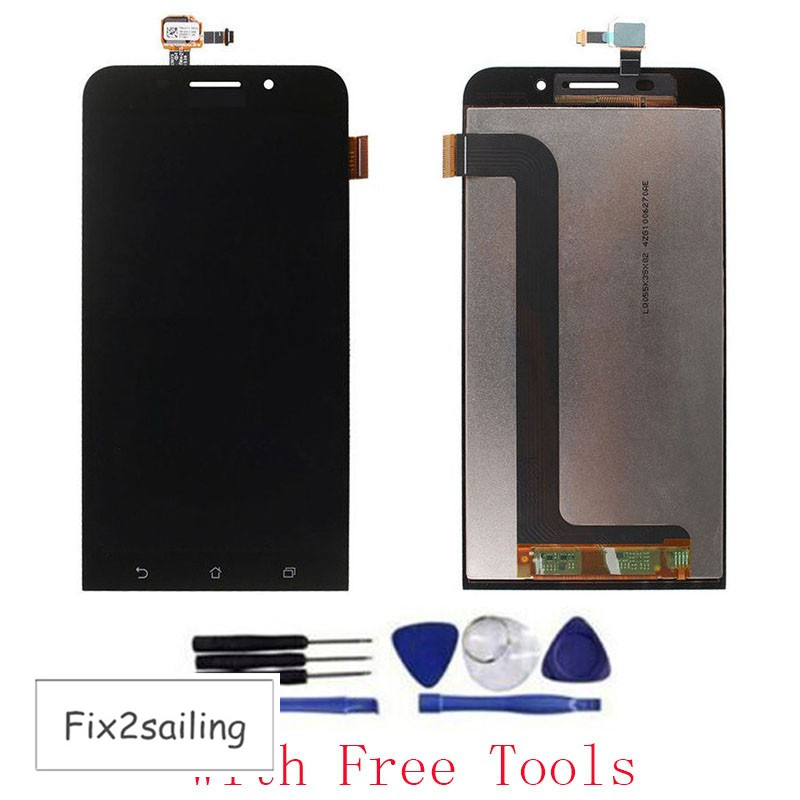 New 100% Test LCD Display Touch Screen Digitizer Assembly Replacement Part For Asus Zenfone MAX ZC550KL Black With Free Tools