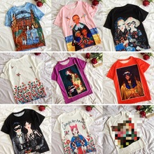 New Beauty oil painting short sleeved t-shirts Illustrations men's wome