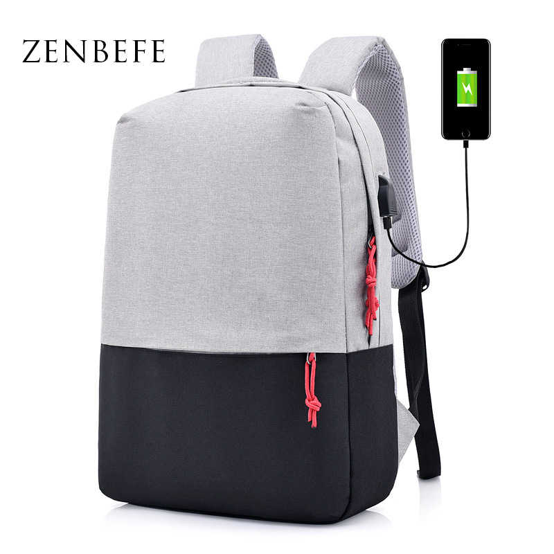 fda78c16a0be ZENBEFE легкие рюкзаки с usb-портом для зарядки, рюкзак для ноутбука, 2 шт