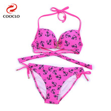 Anchor Sexy Bikinis Set Push up Swimsuit Beach Wear Tie-side Bottom Bathing Suits Vintage Biquinis