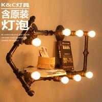 [] Лофт стенки трубы лампа Личность Ретро промышленных исследование магазин одежды украшения Светильник Бра