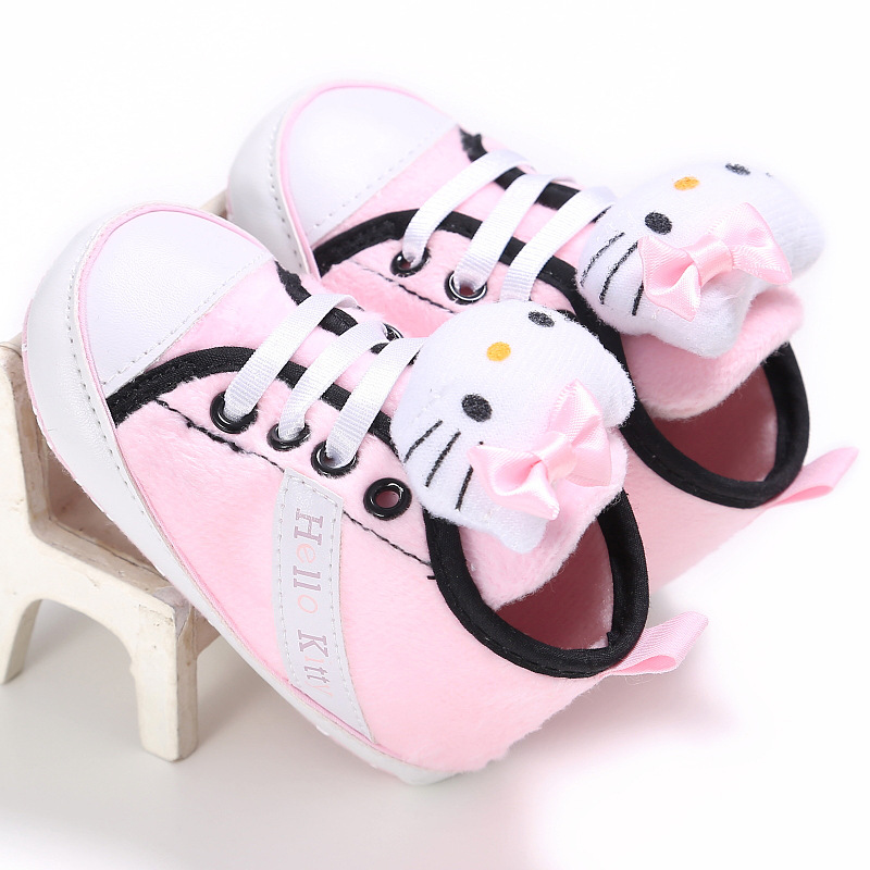 kids kitty First Walkers cute girls Cartoon newborn soft Baby Shoes for 0-2 years old