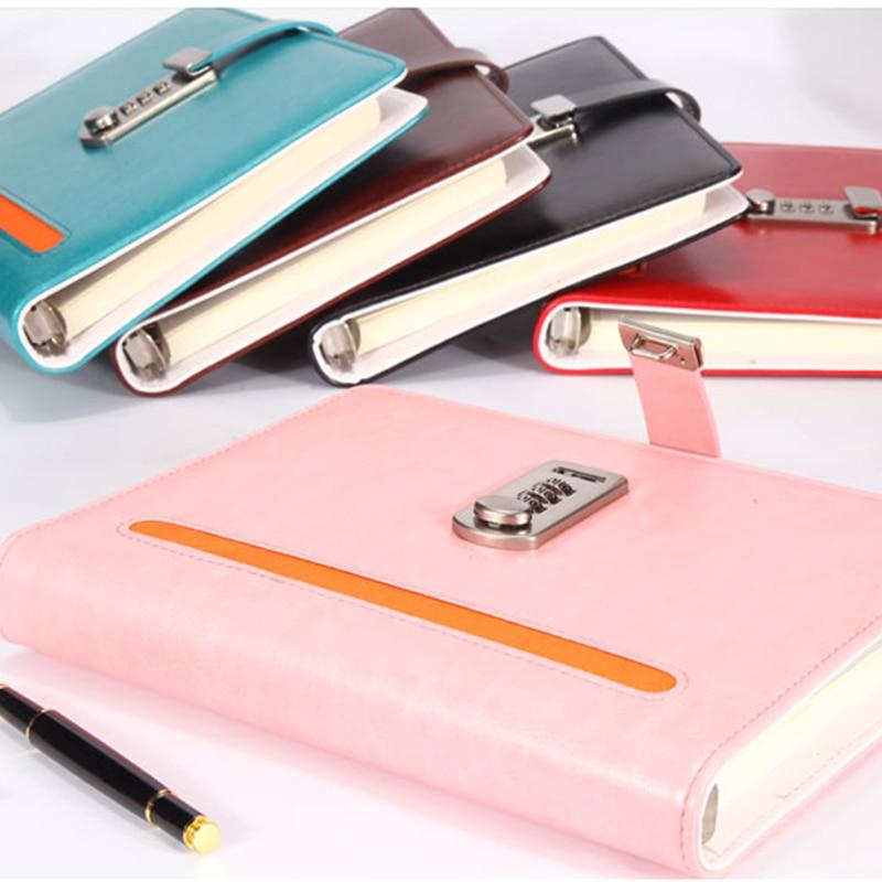 Nový kožený zápisník notebooku se zámkovým kódem - Bloky a záznamní knihy - Fotografie 2