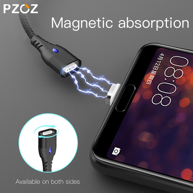 PZOZ 5A Magnetic Cable Micro usb Type C Super Fast Charging Phone Microusb Type-C Magnet Charger usb c For iphone huawei xiaomi