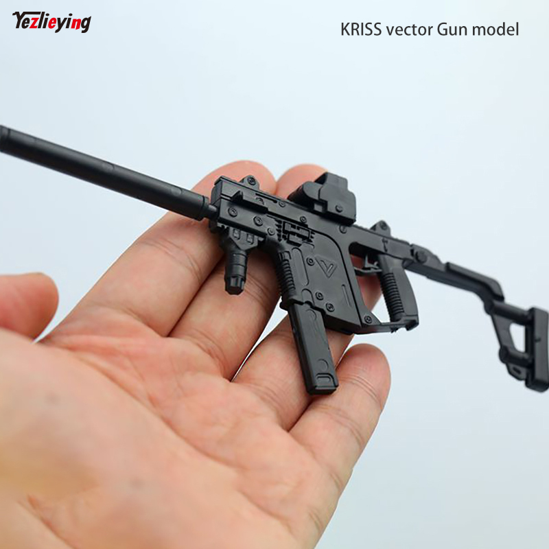 1/6 Scale Soldier 4D Assembly Rifle Submachine Gun Model KRISS Vector Fit 12 Inch Soldier Action Figure Accessories Doll Toys kumik 1 6 scale war brown horse model ac 10 fit for 12 soldier zc ttl phicen action figure doll toys