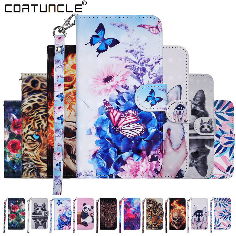 For <font><b>Nokia</b></font> 5 Flip Leather <font><b>Case</b></font> on sFor Coque <font><b>Nokia</b></font> 2 <font><b>3</b></font> 5 <font><b>Case</b></font> For Fundas <font><b>Nokia</b></font> <font><b>3</b></font> Cover 3D Cat <font><b>dog</b></font> Magnet Wallet Phone Cover <font><b>Cases</b></font> image