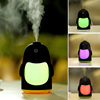 USB 150ML Penguin Air Humidifier Cool Mist Aroma Humidifier Colored LED Lamp Night Light For Car