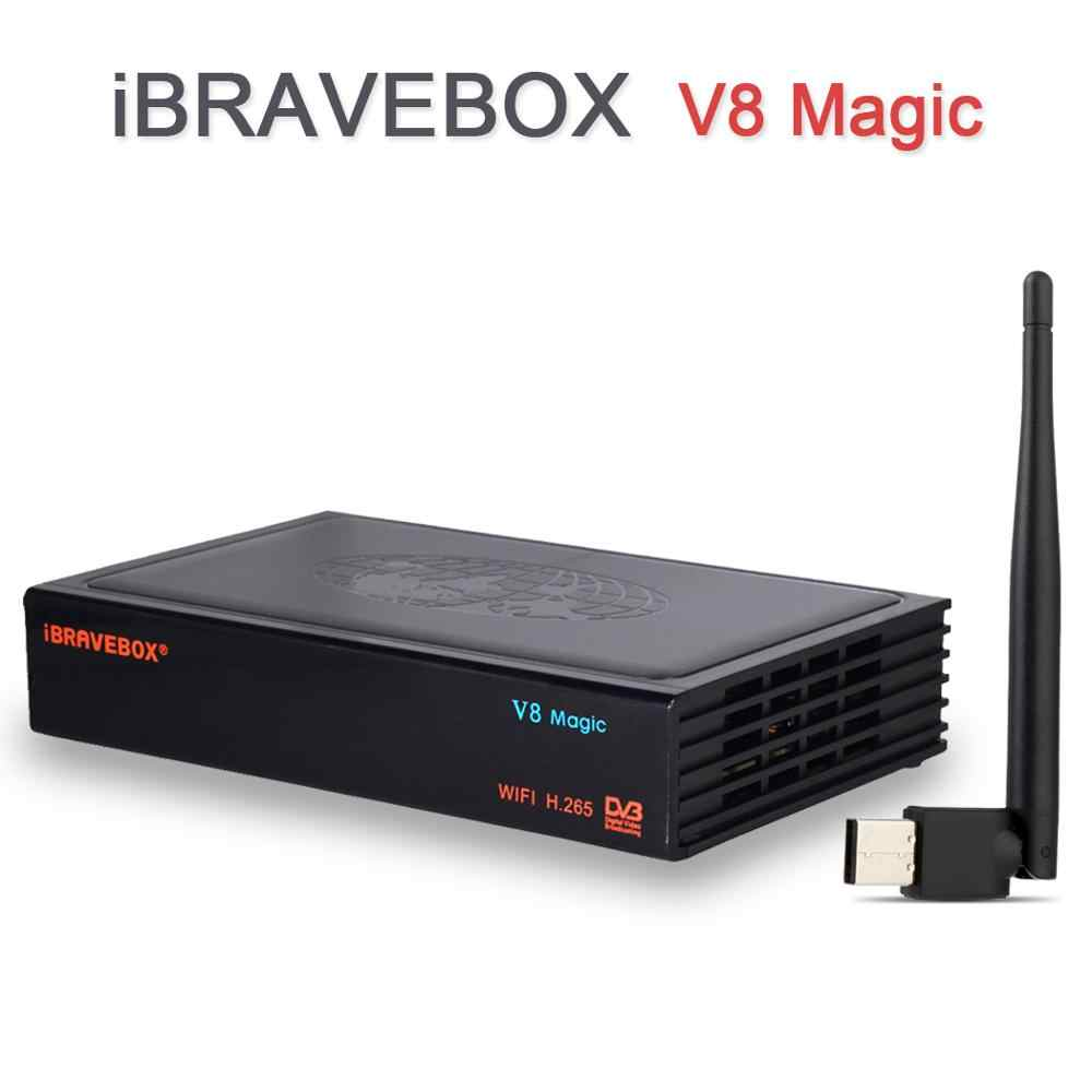 V8 Magic Box iBRAVEBOX Digital Satellite Receiver Rezeptor HD TV Tuner Satellite Decoder 8 Linien Europa Ccam + USB WiFi IP TV