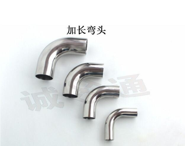 Free Shipping 304 Sanitary Stainless Tri Clamp 90 Degree Elbow