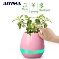 Intelligent Decorative Wireless Speaker Mini Bluetooth Smart Music K3 Flowerpot Flower Pot With Colorful LED Light