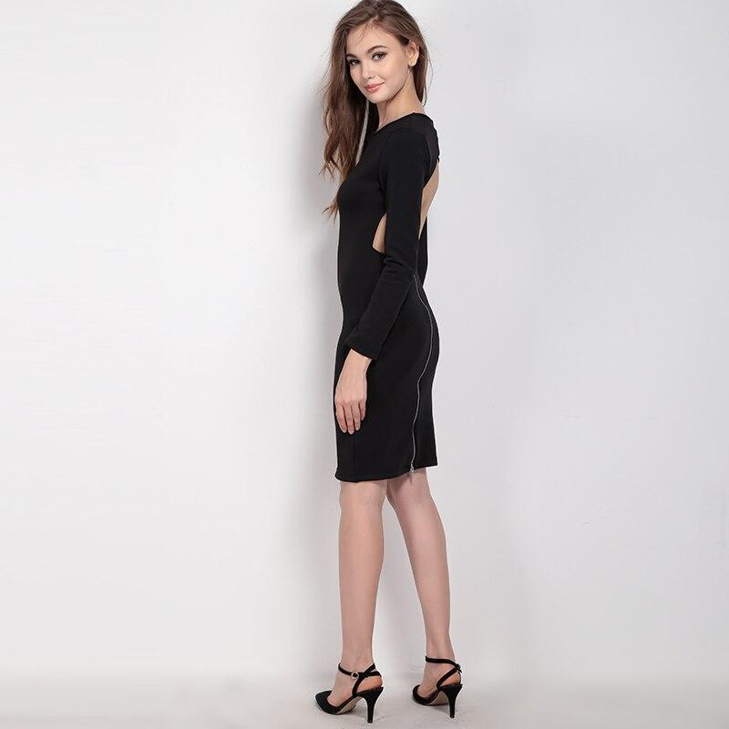 2018 frühjahr Neue Mode Sexy Frau Kleider Weibliche Backless Langarm ...