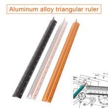 Regla Triangular de escala de aluminio para dibujo, 30cm, HJ55