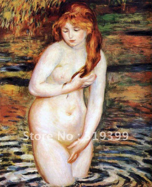 Free DHL Shipping,handmade,Oil Painting Reproduction,the bather by pierre auguste renoir , oil painting on linen canvasFree DHL Shipping,handmade,Oil Painting Reproduction,the bather by pierre auguste renoir , oil painting on linen canvas