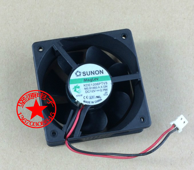 SUNON KDE1206PTV3 Server Square Fan DC 12V 0.7W 60x60x25mm