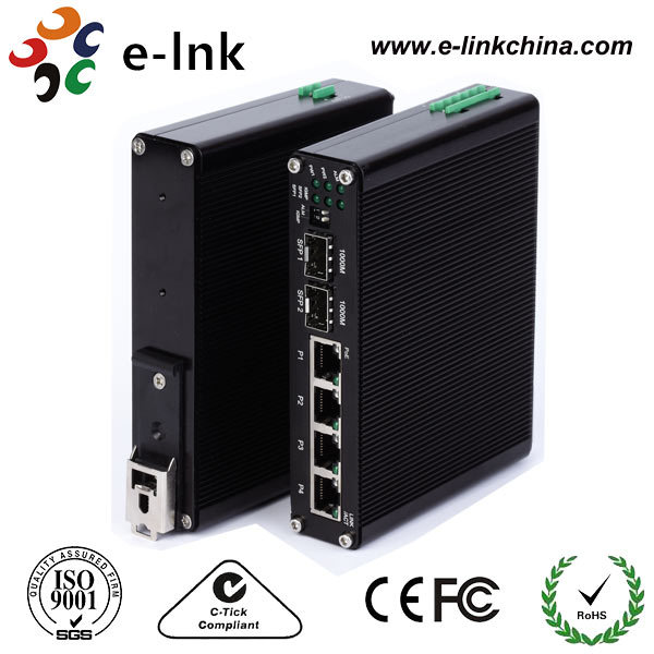 6-Port Industrial Fast Ethernet PoE Switch, 4 PoE Outputs, 802.3af/at PoE Plus, 2 Port SFP slot, 120W with poewer no SFP modul6-Port Industrial Fast Ethernet PoE Switch, 4 PoE Outputs, 802.3af/at PoE Plus, 2 Port SFP slot, 120W with poewer no SFP modul
