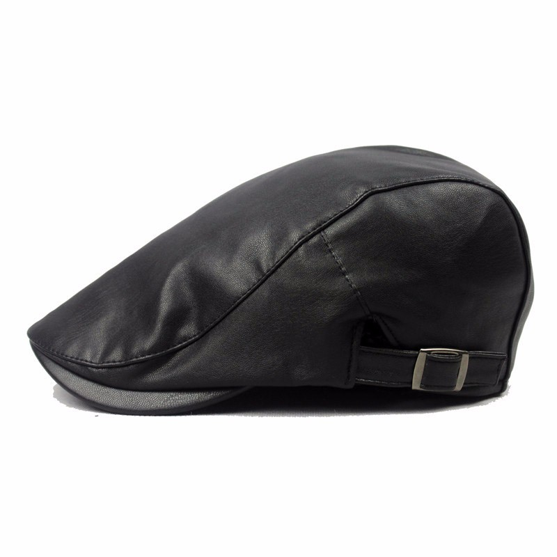 33290aa0e US $8.45 |Multi Colors Men Women Fashion Beret Caps Faux Leather Newsboy  Hat Scally Gatsby Cap Flatcap-in Newsboy Caps from Apparel Accessories on  ...