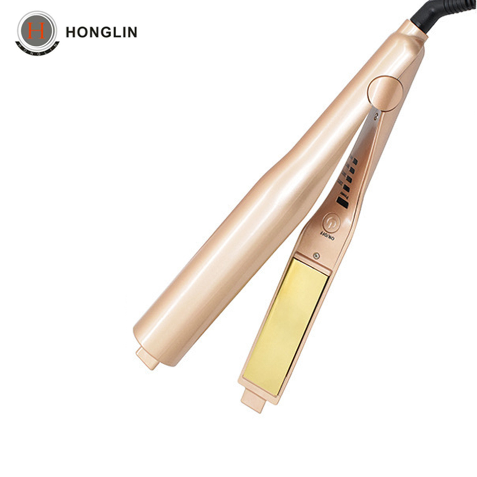 Professional Gold Hair Culer Wave Fashion Styling Tourmaline Ceramic LED Display Hair Straightening Curling Irons WS14 professional hair curling irons tourmaline ceramic heating plate not hurt hair queen mary hair deep wave hairdressing equipment