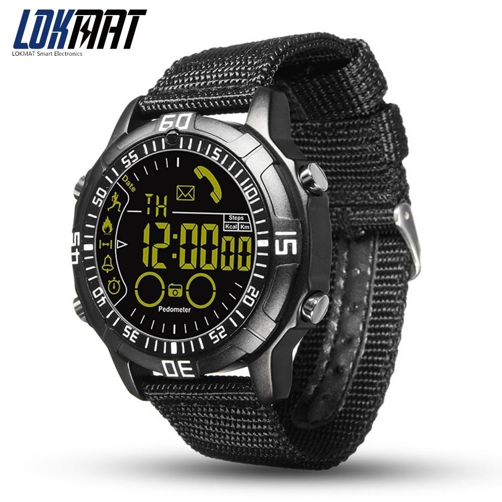 LOKMAT Smart Watch Men Waterproof IP68 Smartwatch Sport Pedometer Digital