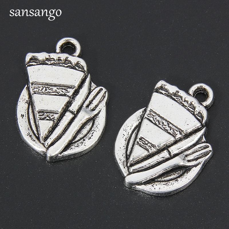 20PCS Bright Silver Unicorn Charms Pendant Necklace Craft Jewelry 14*12MM