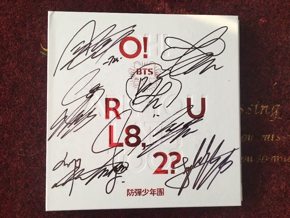 BTS Bangtan Boys Autographed signed Mini 1st album O RUL8 2 CD photobook new korean