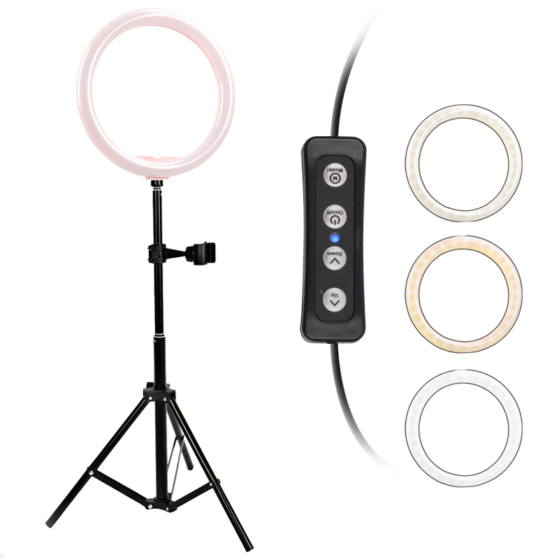 12 8inch 32cm Dimmable LED Selfie Ring Light Lamp 3200 5500k 12W For Youtube Video Photo