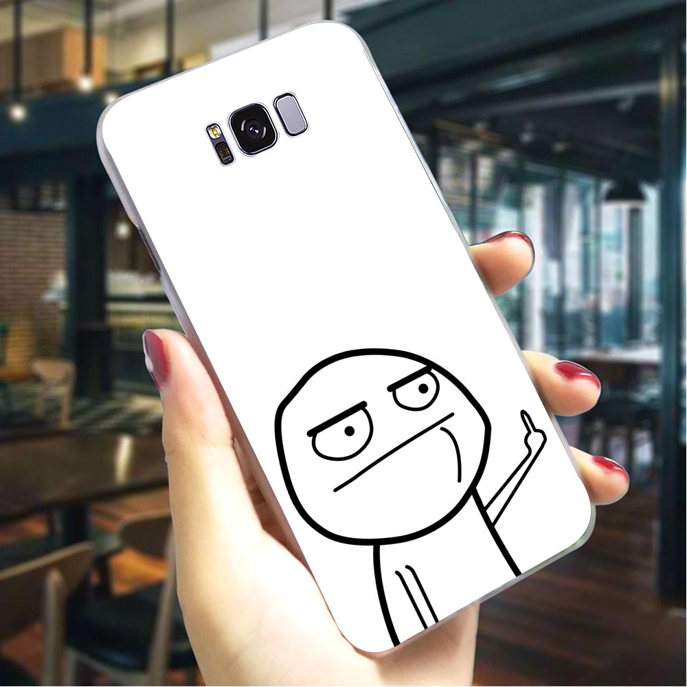 Meme face Hard Cover for Samsung Galaxy A20 A30 Phone Case for A40 A50 A70 A3 2015 A5 2016 A6 2017 A7 2018 A8 Plus A9 A10 image