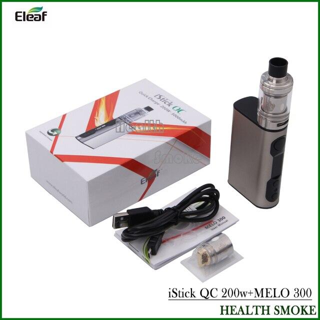 НОВЫЙ элемент! Eleaf iStick QC 200 Вт с Мело 300 Комплект электронной сигареты 5000 мАч TC жидкостью vape mod с 3.5 мл танк starter kit vs iStick QC 200 Вт TC Mod