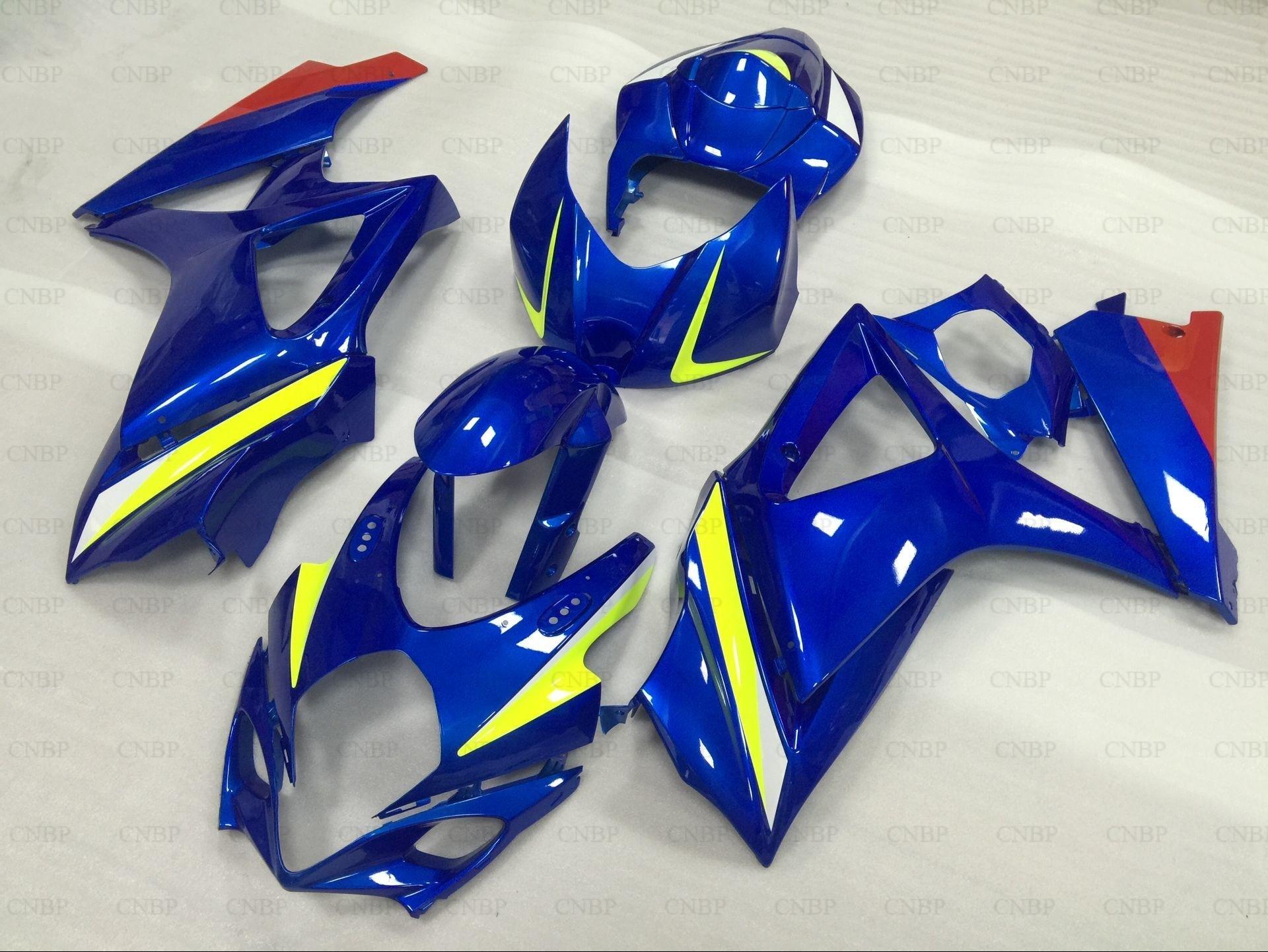 Motorcycle Fairing GSX R1000 2007 Abs Fairing GSXR 1000 08 2007 - 2008 K7 Blue LOGO Bodywork GSXR1000 07 motorcycle fairing kit for suzuki gsxr1000 07 08 gsxr 1000 k7 2007 2008 gsxr1000 abs white blue fairings set 7gifts ss01