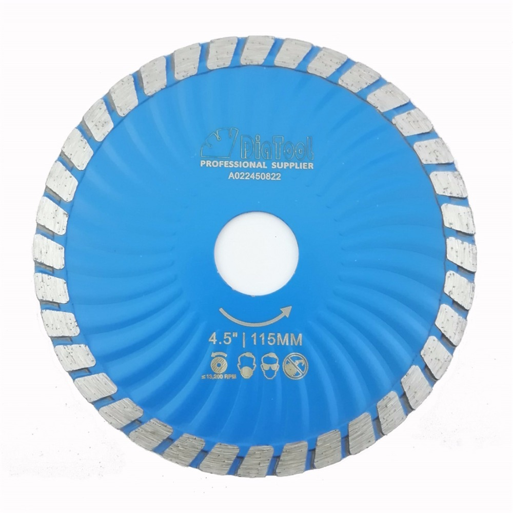 DIATOOL Diamond Waved Blades Diameter 115MM 125MM Hot Pressed Diamond Turbo Blade For Stone Concrete Cutting