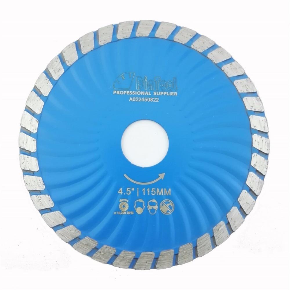 DIATOOL Diamond Waved Blades Diameter 115MM 125MM Hot Pressed Diamond Turbo Blade For Stone Concrete Cutting